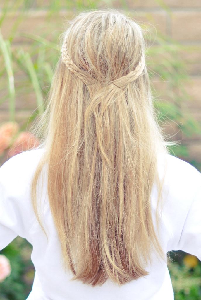 Messy Rope Braids hair tutorial - back