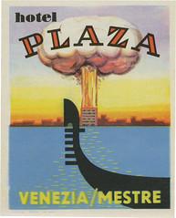 Hotel Plaza, Venice/Mestra (113mm x 91mm)