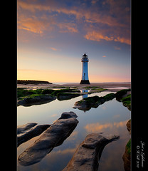 Just a Lighthouse [Explored #247] (H4RSX) Tags: sunset seascape reflections dusk wallasey northwales newvision newbrightonlighthouse perchrock peregrino27newvision
