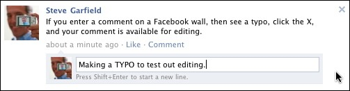 Facebook Comment Editing