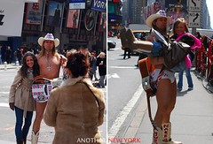 naked cow boy (runningvincent) Tags: nyc travel boy urban newyork naked cow nikon manhattan documentary  d60        anothernewyork