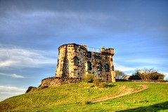 Gothic Tower (Tony Shertila) Tags: monument weather scotland europe day britain nelson clear observatory caltonhill hdr nationalmonument