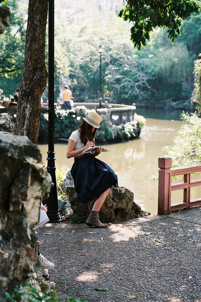 Lady in a Park in Macau