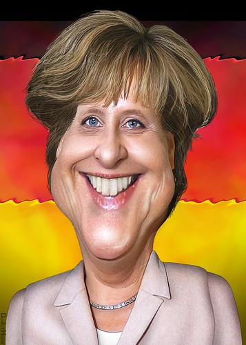 Angela Merkel tend une main à la Grèce.