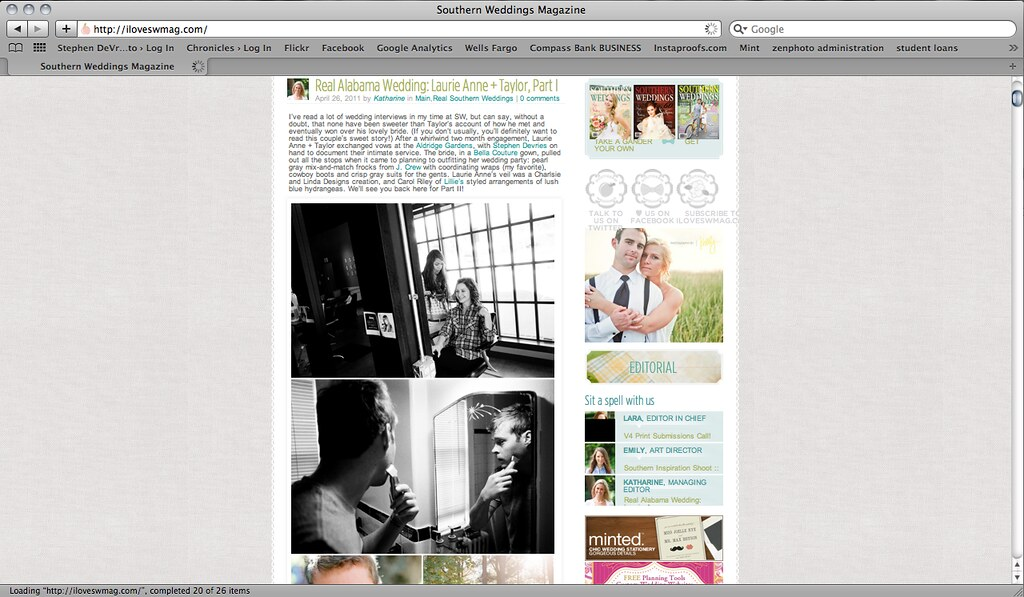 Image of Taylor and Laurie Anne:  Featured on SWS blog!