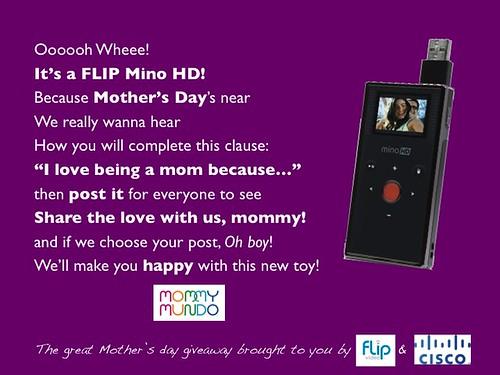 mommy mundo, flip, giveaway