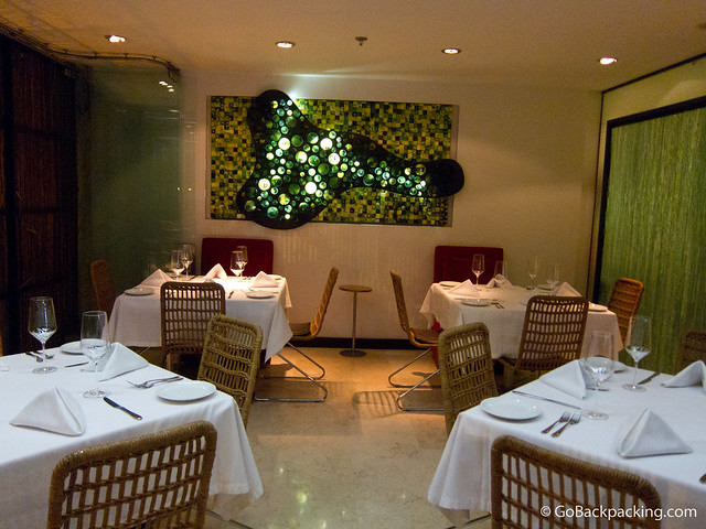 Bijao Restaurant's first floor dining area