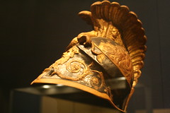 Theatrical Armor, Helmet (BrassIvyDesigns) Tags: old bird art history classic archaeology french gold costume wings ancient roman helmet armor imperial warrior classical artifact metropolitanmuseum theatrical anthropology