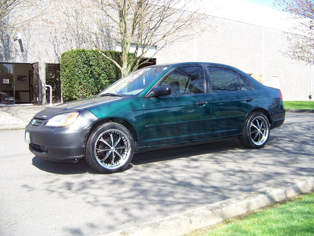 """2001 Honda Civic W/ 17"""" MKW wheels"""