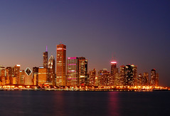 A Pink Chicago Night (Seth Oliver Photographic Art) Tags: lake chicago reflections illinois nikon midwest nightimages nightlights michigan cities cityscapes lakemichigan lakeshoredrive nightshots trumptower southloop chicagoatnight pinoy downtownchicago johnhancockbuilding cookcounty nightscapes breastcancerawarenessmonth urbanscapes 30secondexposure secondcity longexposures chicagoist pinklights nightexposures aontower d40 wetreflections bluecrossblueshieldbuilding cityofchicago smurfitbuilding cityofbigshoulders moderncities manualmodeexposure 1855mmnikkorlens setholiver1 aperturef160 tripodmountedshot nocturneimages cityskylinesatnight timedelaytriggeredshot