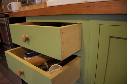 beautiful homemade drawers!