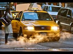 bebe cab (Bymsha Browne Photography) Tags: street nyc yellow nikon taxi 85mm bebe d80