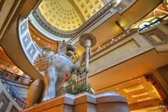 Winged Lion at Forum Shops (atmtx) Tags: statue lasvegas nevada shoppingmall caesarspalace ornate hdr forumshops wingedlion