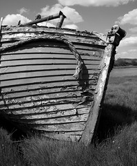 Keep going (steverichard) Tags: wood trees sky broken water river landscape nose mono boat photo rust peeling paint day image ryan bank sunny rope front beached subject nautical dee wreck flaking interest foreground galloway kirkcudbright prow steverichard lochryanlady srichardimages