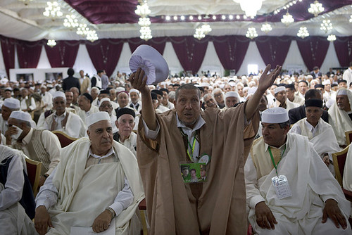 Libyan traditional leaders gathered in the capital of Tripoli on May 5, 2011 to express their support for the government against the counter-revolutionary rebels largely based in sections of the eastern region. They called for peace in the country. by Pan-African News Wire File Photos