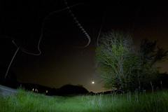 moths to the moon (davedehetre) Tags: road light sky tree field grass leaves sign night painting landscape leaf lawrence spring hill moth astrophotography moths kansas hillside Astrometrydotnet:status=failed dwcfflightpaint Astrometrydotnet:id=alpha20110561850608