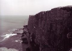01 Handa Island cliffs (I  Minox) Tags: film scotland olympus ilford durness olympusom1 balnakeil ilfordfp4 handaisland 2011