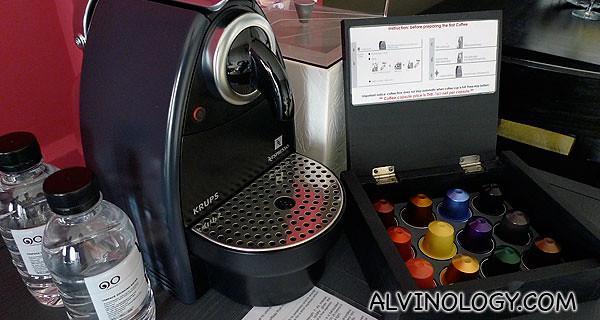 Espresso machine in the room
