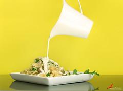 More cream [ Explore ] (ANOODONNA) Tags: mushroom yellow canon eos cream explore more l usm parsley f28 canonef2470mmf28lusm ef fettucini 2470mm 50d أصفر canoneos50d alrasheed alanood العنود الرشيد anoodonna alfredofettucini alanoodalrasheed