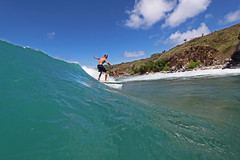 clean wave (bluewavechris) Tags: ocean sea sun water fun hawaii surf action surfer wave maui cliffs surfboard thebay swell honoluabay honolua