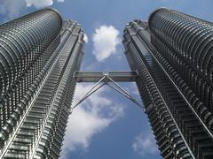 Petronus Towers (Bud_um_tiss) Tags: bridge clouds skyscraper wow mouse amazing asia view towers twin landmark lookingup malaysia stunning huge twintowers tall kuala kualalumpur immense impressive lumpur petronus petronustowers