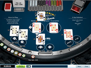 21 Duel Blackjack 3 Hand Win