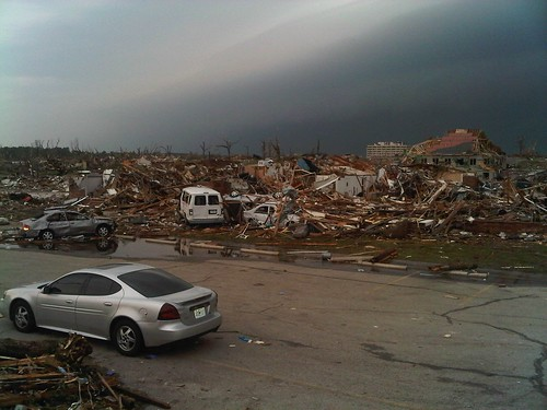 Damage in Joplin, Mo. after the tornado.