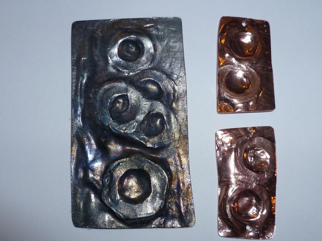 12/5/11 Pendant, earrings & Liver of Sulphur TADA365 No:248