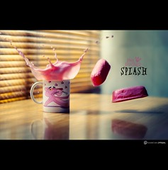 PINK PANTHER SPLASH (daviddecastrob) Tags: pink 50mm milk nikon cookie rosa splash pinkpanther panterarosa d90 cookiesplash daviddecastro