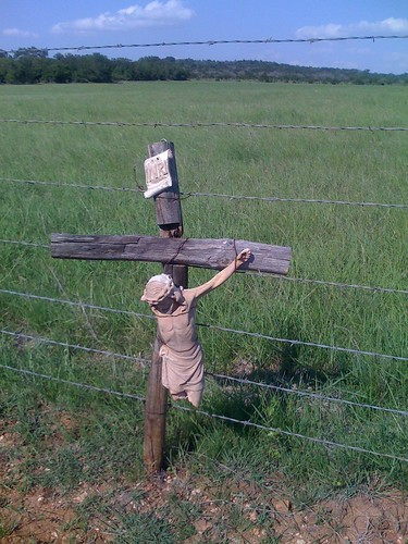 Jesus on a Fence
