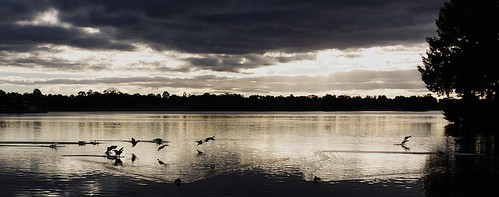 Sunset on Lake Ginninderra, Canberra, Australia. ©2011
