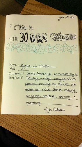 30 Day Journal Challenge - Day 1 by kaylasoukie