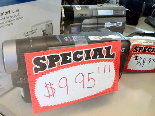 VHS-C Camcorder for $10 in an OKC Pawn Shop
