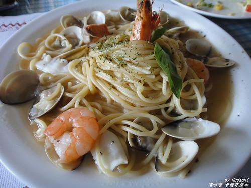 蒜香海鮮麵
