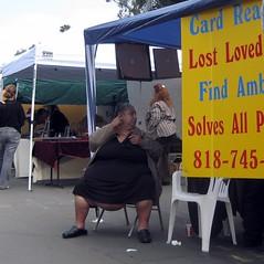 Fortune Teller (annecentral) Tags: california pasadena fortuneteller omfg rosebowlfleamarket morbidobesity