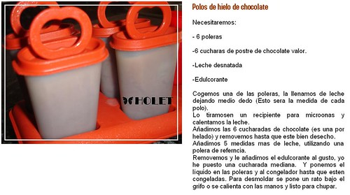 Polos de hielo de choco light by holete79