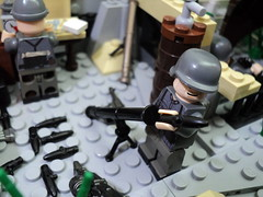 German Mortar Crew 1944 (Mortar side) (silentjonfilms) Tags: lego wwii mortar crew german ammo decals weapons brickarms brickforge