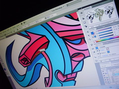 "estudio de letra ""F"", Adobe Illustrator. (FALSO: Graffiti Art) Tags: estudio 3dart letraf graffiti3d graffitidigital falsoart"