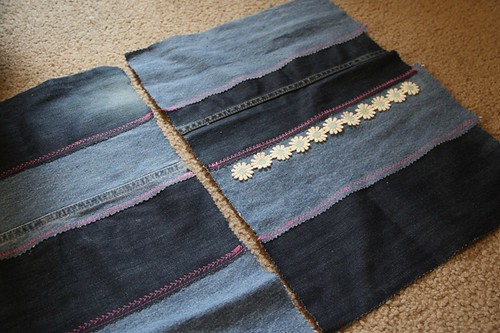 denim tote sides sewn