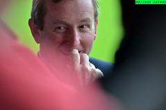 Enda Kenny and the Red and Green of Mayo at the Connacht GAA Semi Final 2011 at McHale Park by Alison Laredo (alison laredo) Tags: ireland irish galway football fans semifinal connaught gaa taoiseach endakenny connaght caslebar mchalepark mchaleroad 26june2011