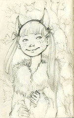 Gods of forest sketch (Miss Aoki) Tags: moleskine forest pencil sketch gods missaoki