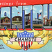 Greetings from Rantoul, Illinois, Home of Chanute Field - Large Letter Postcard