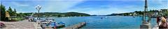 Panorama Velden (peter pirker) Tags: blue panorama lake water strand canon austria wasser pano krnten carinthia promenade blau velden stereich wrtersee peterfoto eos550d