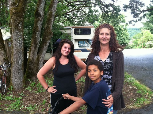 Michelle and her kids live in this RV