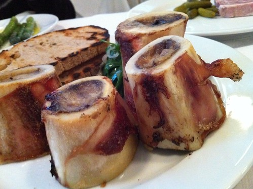 Roast Bone Marrow & Parsley Salad.