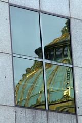 Dome Reflected (Read2me) Tags: old reflection building green window square gold shape gamewinner challengeyouwinner flickrchallengegroup flickrchallengewinner friendlychallenges thechallengefactory herowinner superherochallengewinner storybookwinner storybookchallengegroupotr pregamewinner