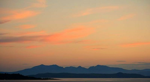 Sunset over Arran !!! by jackatlargs