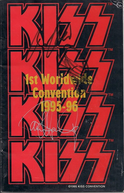 07-16-95 Kiss Convention @ Bloomington, MN (Autographed Convention Tour Booklet)