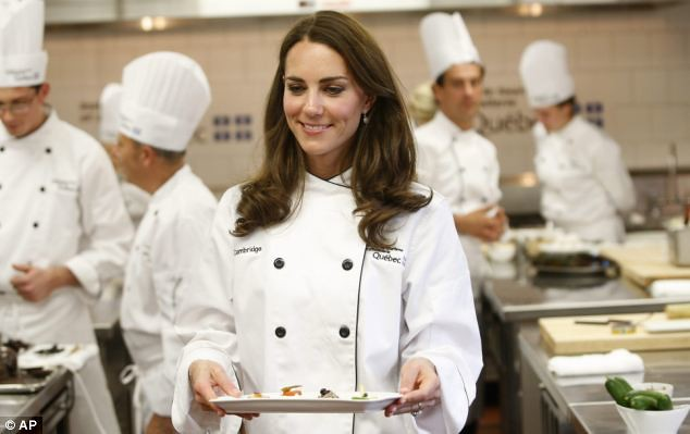 she can cook! Kate serves up a treat as she reveals her talent in the kitchen..  William  3