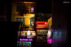 Dalat (Manlio'77) Tags: dalat vietnam southasia colors night colourednights reflessions light purple violet red yellow obscure dark darken tenebre travel travelphotograpy cityscape
